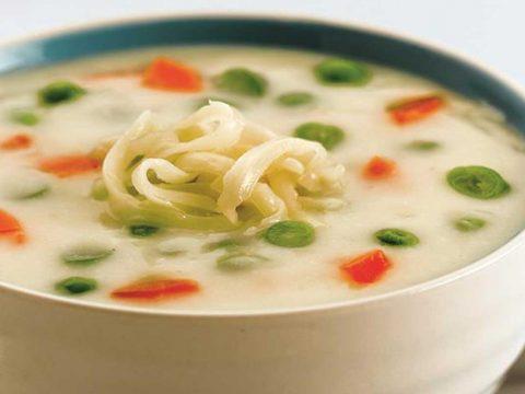 طرز تهیه سوپ شیر - آشپزخانه فیتنس