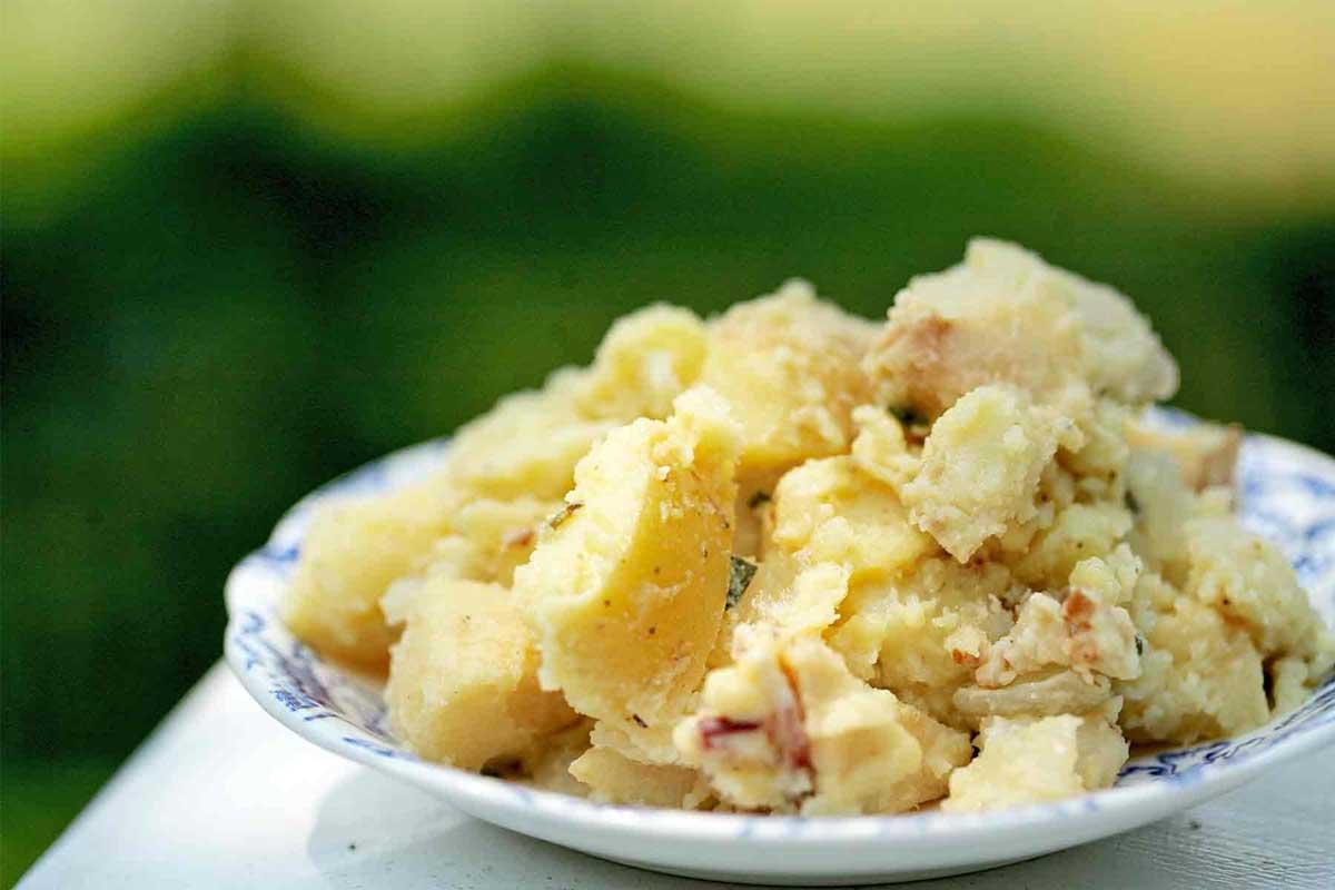 طرز تهیه سالاد سیب زمینی قالبی - آشپزخانه فیتنسی